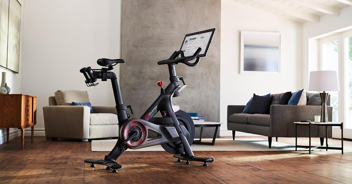 A Peloton bike ready to get fit